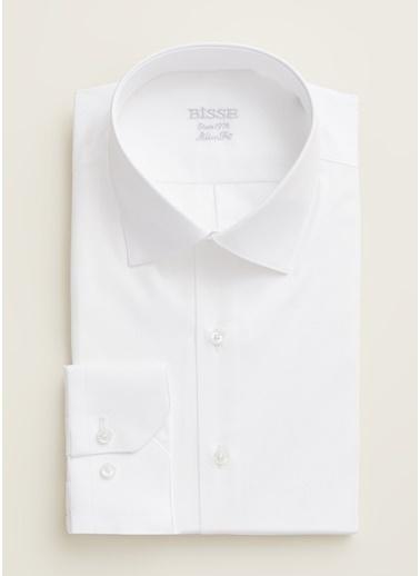 Bisse GM20K22167 Regular Fit Düz Klasik Gömlek Beyaz